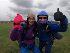 Brave fundraiser Kelsey: Skydive for Huntington's Association 'the best thing ever'