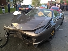 PICTURED: Driver flees after supercars crash at Tinsley roundabout