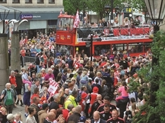GALLERY: Fans fill Rotherham to welcome Millers home after Championship promotion