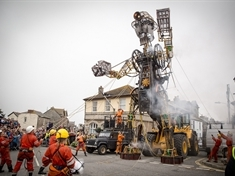 VIDEO: Massive man machine en route to Rotherham