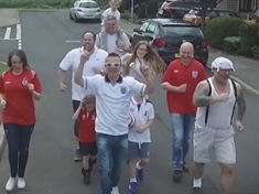 VIDEO: Singing plumber Paul launches new England World Cup song
