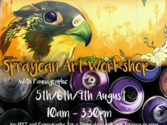 Free spraycan workshops for youngsters