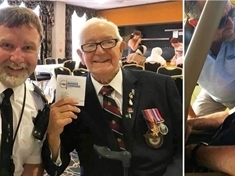 VIDEO:  Royal Air Force vet (94) flies again thanks to kind cop