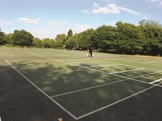 Tennis courts turned into car park - during Wimbledon!
