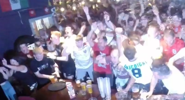 VIDEO: Fans' ecstasy and agony as England crash out