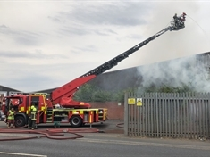 Five fire engines attending blaze in Parkgate