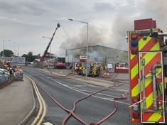 UPDATE: Fire at business premises in Parkgate