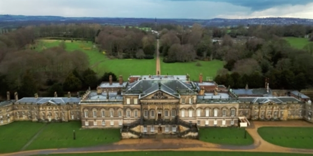 A bird's-eye view of Wentworth Woodhouse coming to TV