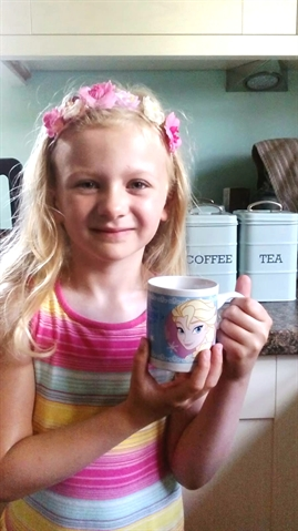 Ellise (5) brewing up in Braithwell for Alzheimer's Society