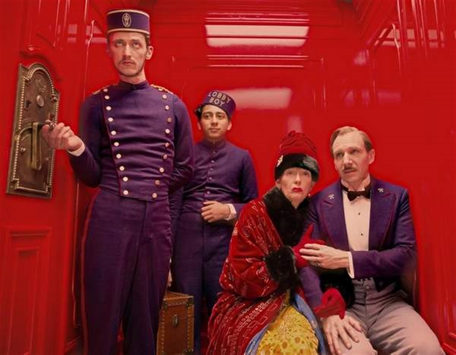 Open-air screening of Grand Budapest Hotel