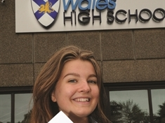 A-LEVELS: Top performer Georgia is off to Cambridge