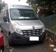 Van driver fined for parking on pavement