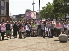 Noisy scenes promised at Rotherham adult daycare protest