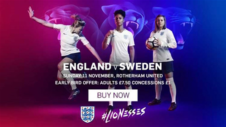Lionesses to host Sweden at the AESSEAL New York Stadium