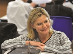 Tory MP Justine Greening puts a shift in at Bramley cafe to promote social mobility