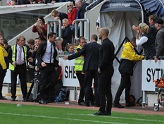 Pitch, players and officials in firing line of frustrated Derby boss