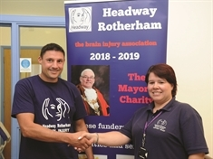 Friends team up for coast-bound sponsored walk for Headway Rotherham