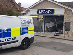 Ram raid on Harthill store - LATEST