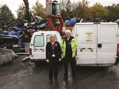 VIDEO: Seized vans sent to the crusher by council