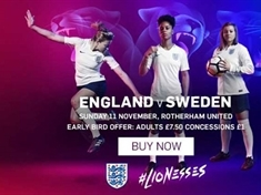 Win tickets to England v Sweden international at the NYS