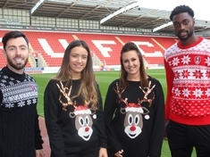 Millers stars back Christmas jumper campaign for children's hospice