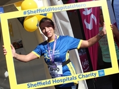 Grateful mum's charity run to thank doctors for helping her through difficult birth
