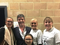 Art charity reps honoured to meet 'humble' X Factor judges Simon Cowell and Louis Tomlinson