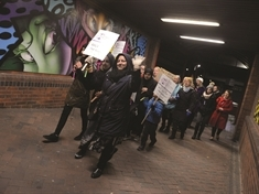 Dozens march through Rotherham to Reclaim the Night and stand against violence