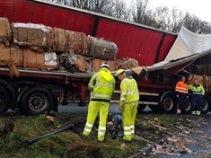 TRAFFIC: M1 junction expected to be clear by rush hour following lorry crash
