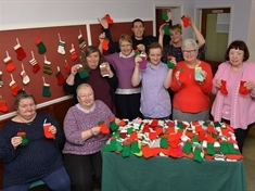 Knitting fans unveil crafty Christmas creations