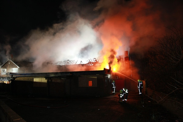 VIDEO: Six fire engines tackle blaze at derelict sports and social club