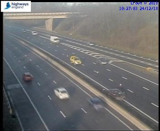 TRAFFIC: M1 clear following three-vehicle accident at