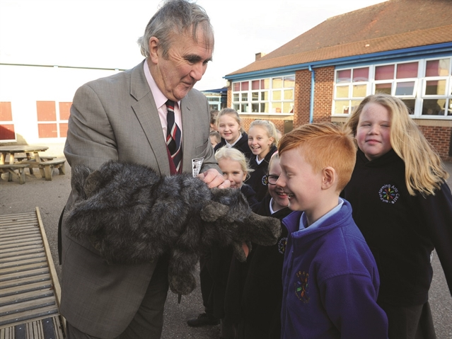 Creepy crawlies help writer Gervase Phinn launch Bramley school's new class