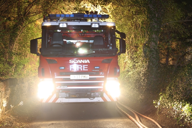 Shed damaged by arsonists in Greasbrough