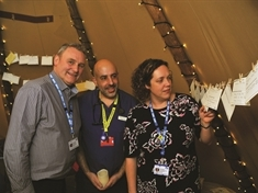 Tranquil teepee pitches up at Rotherham Hospital