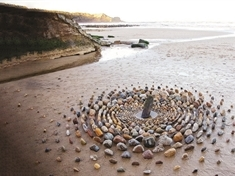 Land artist James Brunt inspires the next generation with all-natural outdoor art