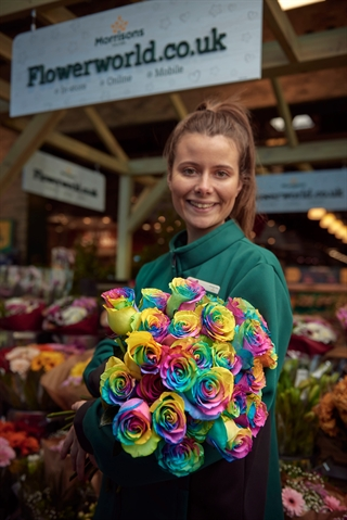 Supermarkets in Rotherham spread the love with 'rainbow' roses
