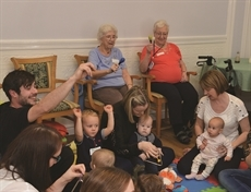Rattle and Roll brings kids and old folk together at Whiston care home