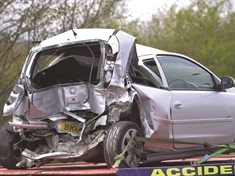 Two-vehicle smash in Manvers