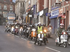 Scooter lovers' ride in tribute to tragic dad Danny Dix