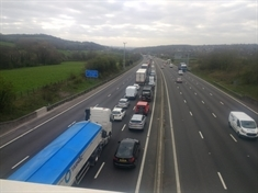 M1 re-opens after crash which claimed life of van driver
