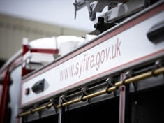 Deliberate derelict building fire in Rotherham town centre