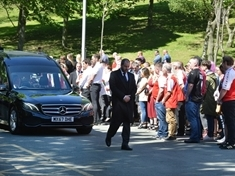 Hundreds of mourners at Rotherham Crem for dad Danny Dix's funeral