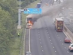 Coach blaze shuts three lanes of M1