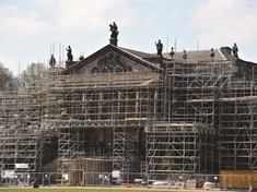 'Slide and show': See Wentworth Woodhouse with and without scaffolding as huge repair job starts