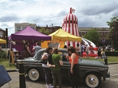 Town centre bops to the sounds of Rotherham's Vintage Hop