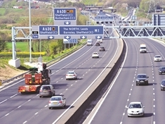 Multi-vehicle collision on M1 in Rotherham