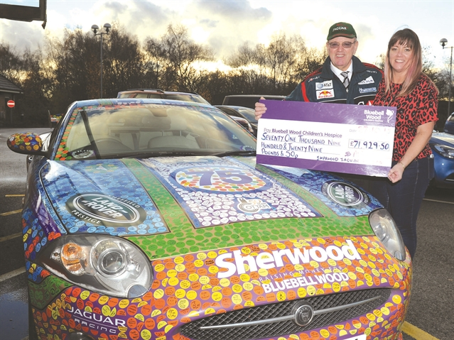 Car lover Stuart Dixon on the road to another top total for Bluebell Wood