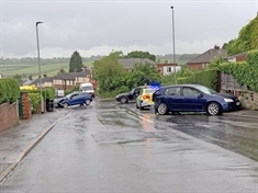 Three adults and a child taken to hospital after police pursuit ends in Greasbrough collision