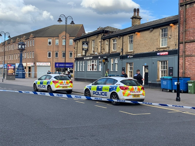 Police cordon in Rotherham town centre after man arrested over pub assault
